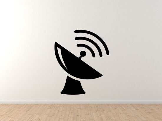 Space Icon - Seti Satellite Dish Toon Extraterrestrial - Vinyl Wall Decal