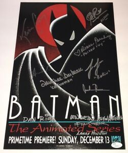 KEVIN-CONROY-Batman-Animated-Series-Cast-X12-Signed-11x17-Photo-JSA-COA