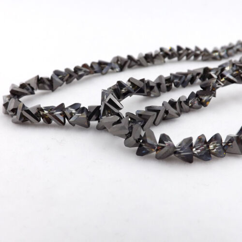 6mm 100pcs Glass Triangle crystal bead Loose beads Special bead DIY jewelry Make