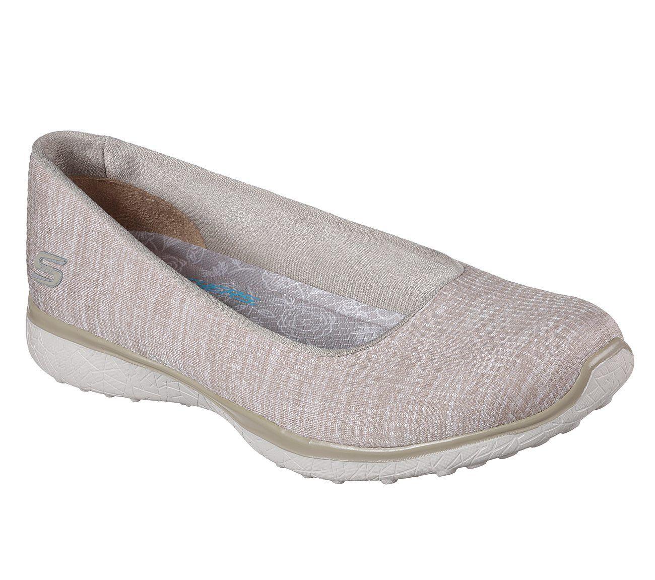 negozio online outlet NUOVO NUOVO NUOVO Skechers Da Donna Ballerine slipper Flats microburst-Darling Dash GRIGIO  fino al 65% di sconto