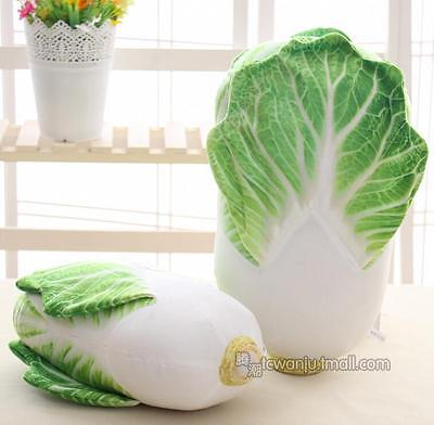 Alive Green Cabbage Plush Toy Simulation Vegetable Pillow Stuffed Birthday Gifts