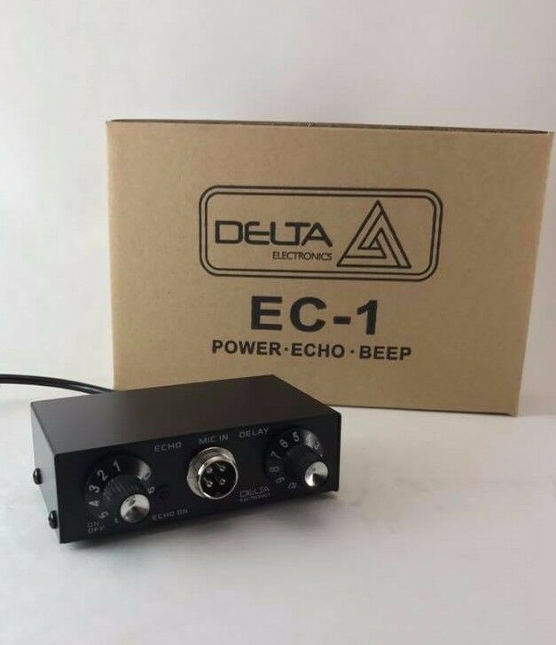 DELTA EC1 DYNAMIC MIC AMPLIFIER / ECHO CHAMBER w/ ROGER BEEP 4 pin Cobra CB HAM . Available Now for 74.95