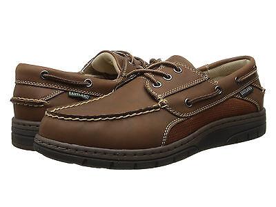 Eastland Exeter Men Leather Oxford Boat Shoes Memory Foam Ortholite Peanut 10.5