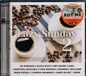 Lazy-Sunday-The-Album-2-2-disc-CD-NEW-Ed-Sheeran-Alicia-Keys-Dido-Aguilera-Blunt