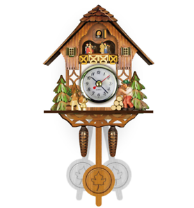 New-Vintage-Cuckoo-Clock-Forest-Swing-Wall-Room-Decor-Wood-Cartoon-Clock