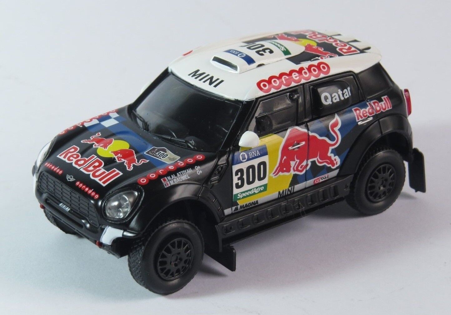 MINI ALL4 RACING 1 43 IXO, NASSER DAKAR 2016, DIECAST, METAL, NEW IN BOX.