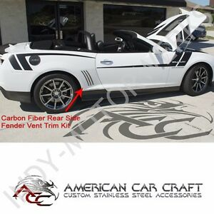 Details about CAMARO REAR SIDE FENDER VENT SLOT CARBON FIBER TRIM KIT 5th  GEN 10-13
