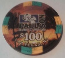 PAUL - SON COMPANY LAS VEGAS NV VINTAGE $100 TREE CHIP IN BEAUTIFUL CONDITION