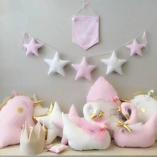 Nordic chambre de bébé fait main Pépinière Star guirlandes Enfants Chambre Décoration murale
