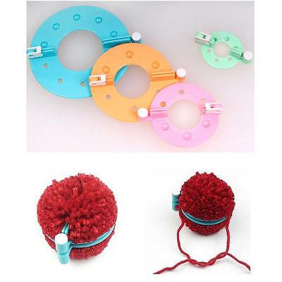 8x Knitting Loom Strickring Strickliesel Pompon Maker Selber Machen Ball Weaver