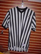 MEDIUM Striped Referee Shirt By Cliff Keen Basketball Football Costume Lot ZZ