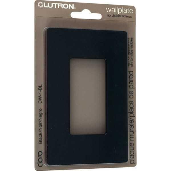 Lutron Claro 1 Gang Decorator Wallplate, CW-1-BL, Black NEW Lot of 5