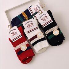 """College Wind"" 5 Pairs Womens Socks Cotton Vintage School Casual 4 Seasons Sox"