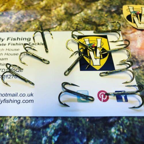 10 V Fly Ultiamte Needle Eye V1 Salmon Tube Fly Treble Hooks Sizes 4 to 14