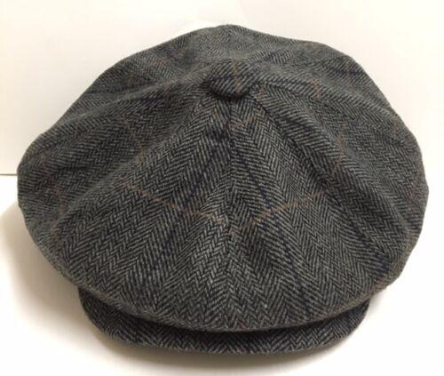 G/&H 8 PANEL BAKERBOY,NEWSBOY,PEAKY BLINDER FLAT CAP 1920S CABBIE FLAT CAP