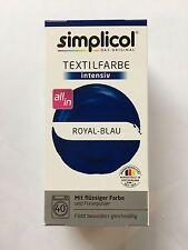 "Simplicol Textilfarbe intensiv all in 1 -Flüssige Rezeptur ""Royal Blue"" Neu!"