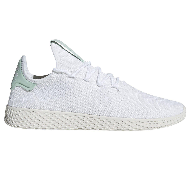 adidas PHARRELL WILLIAMS HU TENNIS Chaussures Blanc Bleu SNEAKERS TRAINERS KICKS