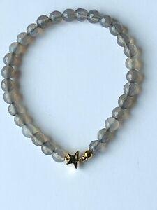 Achat-Armband-grau-925-Silber-vergoldet
