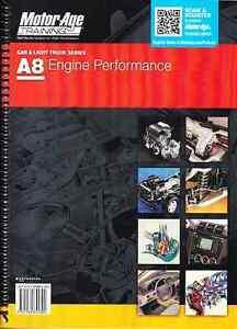 motorage  ase automotive engine performance test prep study manual guide  ebay