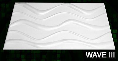 New 3D Board Wall Cladding Tiles Wallpaper Decorative Panels - 6 Sqm WAVE III 3D