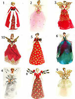 Selection Gisela Graham Larger Fairy Angel Christmas Tree Topper Decoration