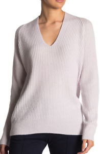 Details about $295 NWT VINCE RIBBED KNIT V NECK WOOL & CASHMERE BLEND SWEATER PULLOVER SZ S
