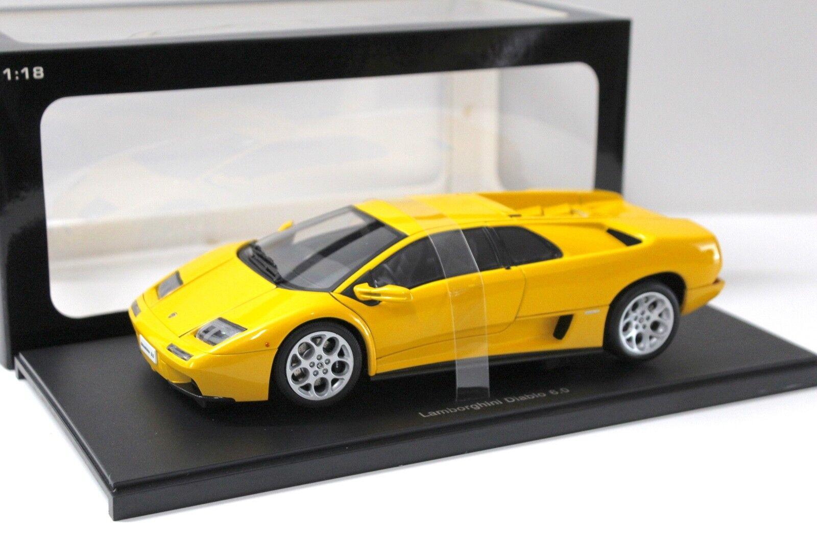 grandes ahorros 1 18 Autoart Lamborghini Diablo 6.0 6.0 6.0 amarillo New en Premium-modelCoches  seguro de calidad