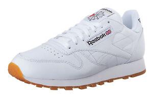 Gum Mens Running Tennis Shoes FX1318 Reebok Classic Leather Croyal Blue White