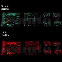 Dash Instrument Cluster Gauge Red Leds Lights Kit Fits 80-86 Ford F100 F150 F250