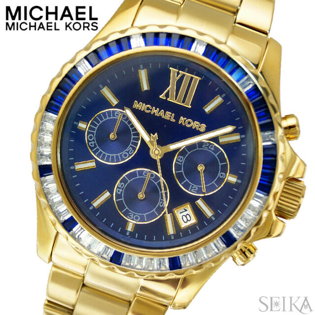 3be87afe4ac2 Michael Kors Mid-Size Everest Chronograph Glitz MK5754 Wrist Watch for  Women for sale online