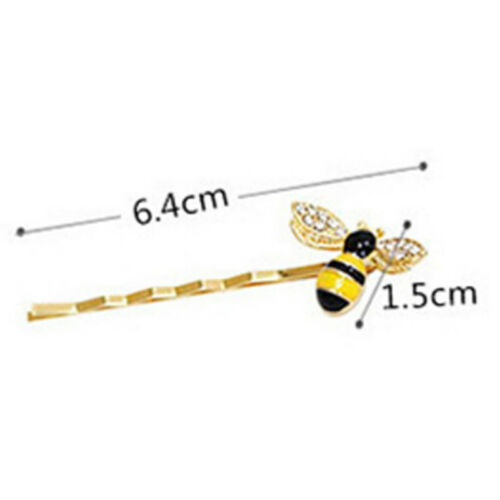 Cute Jewelry Crystal Women Hairpins Barrettes Bees Hair Clips Animal Hairp YH