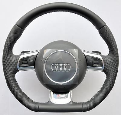 Audi S Line A3 A4 A5 A6 A8 R8 Q5 Q7 Tt Rs Volante Base Piatta Dsg Pagaie- Bianchezza Pura