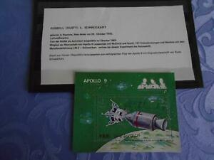 Apollo 9 Sheet original signiert Rusty Schweickard Space