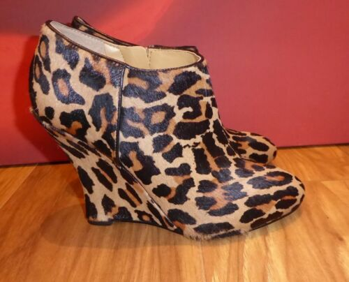 West Ankle Boots Fur 5 Uk 4 Wedge Black Cow 62 Brown 7 Leather Us Eu Nine 37 5qxx0A