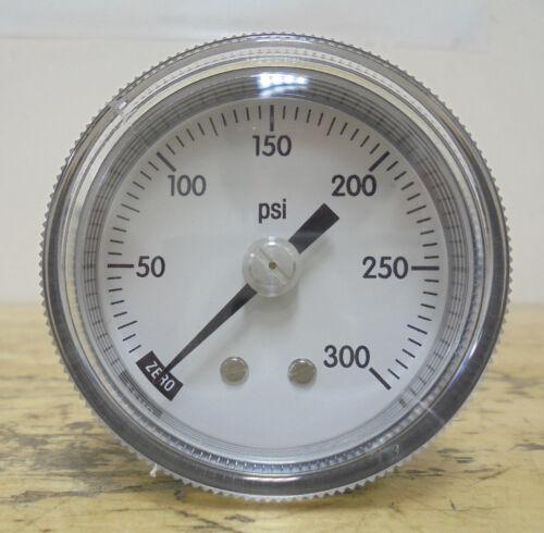 """2-1//4/"""" Panel Mount Pressure Gauge    0-300 PSI     1//8/"""" M NPT"""