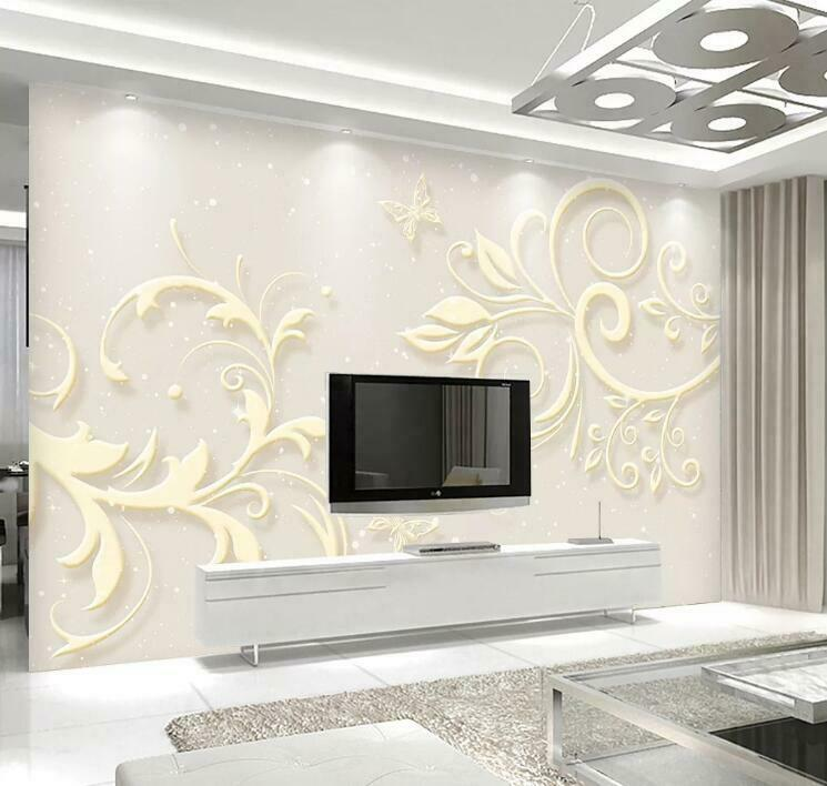 3D Simple Leaf N1778 Wallpaper Wall Mural Removable Self-adhesive Sticker Amy