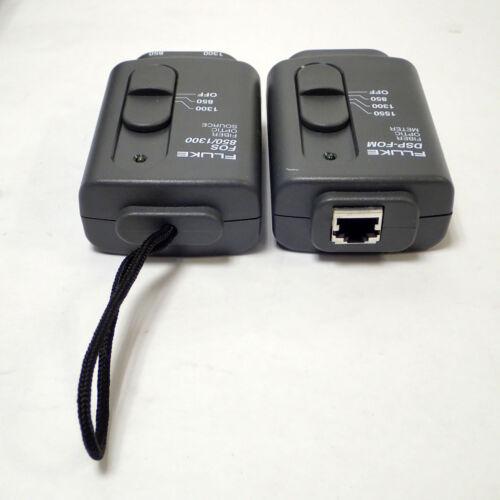 FLUKE FTK FIBER TEST TOOLS DSP-FOM FIBER OPTIC METER /& DSP-FOS 850//1300 SOURCE