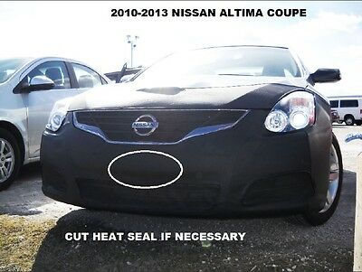 Fits Nissan Altima 4 Door Sedan 2013-2015 With or Without Fog Lights Lebra 2 Piece Front End Cover Black Car Mask Bra
