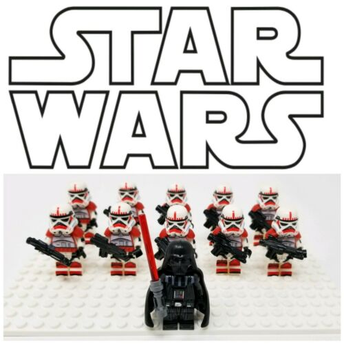 11 Pc Set Star Wars Empire Shocktroopers Minifigure w// Darth Vader US Seller