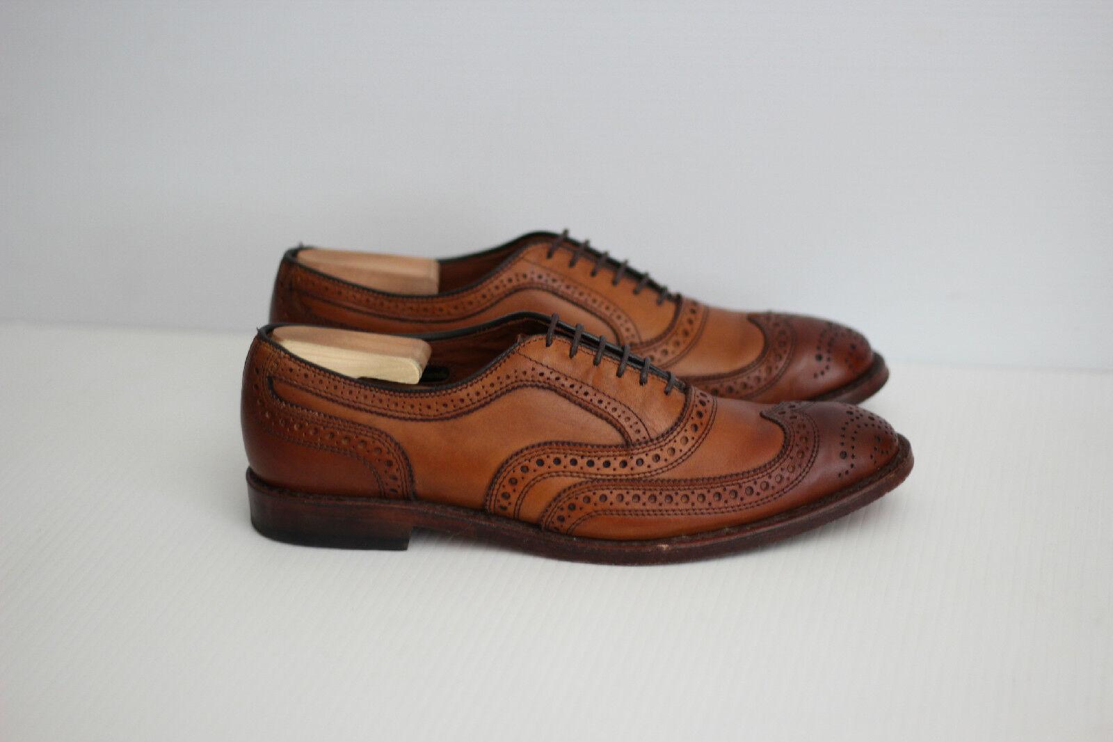 Allen Edmonds 'McAllister' punta del ala Oxford-Nogal Marrón-Talla 8.5 B (W74)