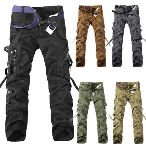 Men Cargo Shorts Pants Army Combat Tactical Military Long Trousers Bottoms 29-38