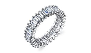 Baguette-Cz-Eternity-Band-Sterling-Silver-Stacked-All-Around-Ring
