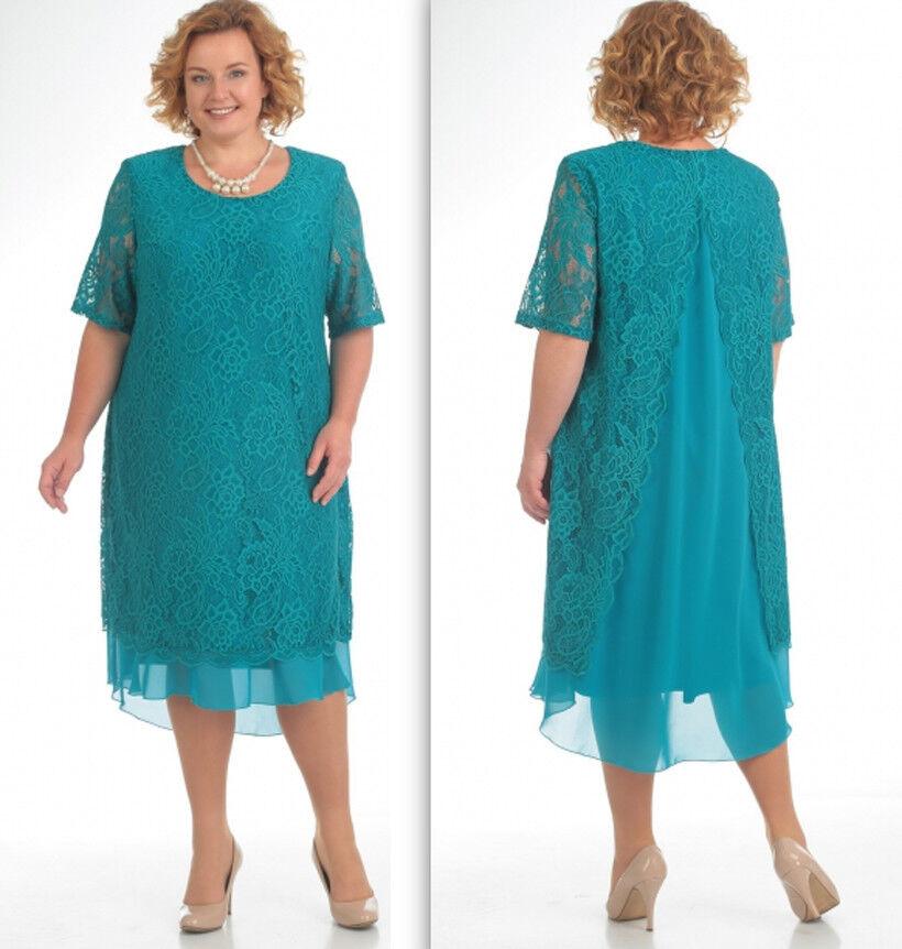 Abend Kleid Big Größe Gr.52,54,56 Farbe Türkis