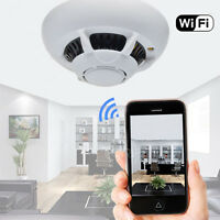 Mini 720p Hd Spy Dvr Hidden Ip Camera Smoke Detector Motion Detection Nanny Cam