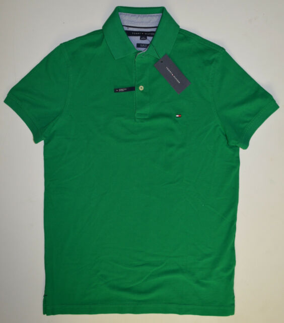 c3f04bb510caa Tommy Hilfiger Polo Shirt With Tag Men s M Slim Fit Green 324 for ...