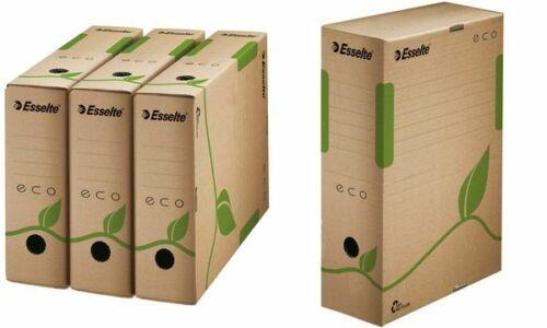 25x Esselte Archiv-Schachtel ECO DIN A4 Pappe braun 233x327x100mm Archivordner