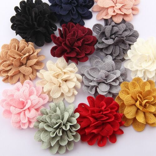 """50pcs 6.2CM 2.4/"""" Hair Flower For Hair Accessories Fabric Flowers For Head Wear"""