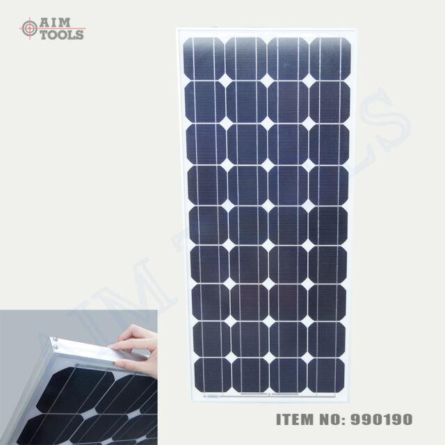 990190 100W 18V Crystalline Silicon Solar Panel Caravan Boat Electric Generator