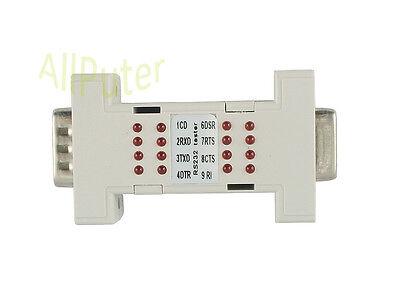 RS232 Tester Serial DB9 Interface Port MINI Analyzer Loop Back w/ LED indicator