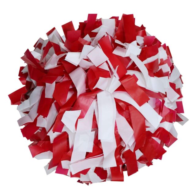 Danzcue 1 Pair 6 Inches Plastic Cheerleading Pom Poms with Dowel Handle